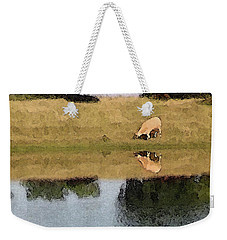 Reflective Cow Weekender Tote Bag by Donna G Smith