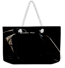 Weekender Tote Bag featuring the photograph Reflective Helicopter Outline by Paul Job