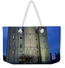 Reflective Temple Weekender Tote Bag by Chad Dutson