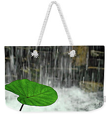 Refreshed By The Waterfall Weekender Tote Bag by Sue Melvin