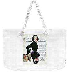Weekender Tote Bag featuring the digital art Refreshes Without Filling by Reinvintaged