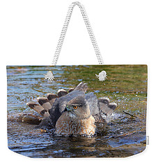 Weekender Tote Bag featuring the photograph Refreshing Bath by Doris Potter