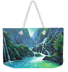 Refreshing Streams Weekender Tote Bag by Lou Ann Bagnall