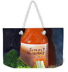 Weekender Tote Bag featuring the painting Refrigerator Items by LaVonne Hand