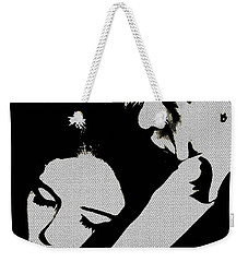 Weekender Tote Bag featuring the mixed media Refuge by Michelle Dallocchio