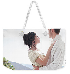Regency Couple Embracing On The Terrace Weekender Tote Bag