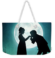 Regency Couple Silhouetted By The Full Moon Weekender Tote Bag