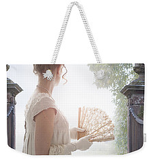 Regency Woman Looking Through A Gateway Weekender Tote Bag