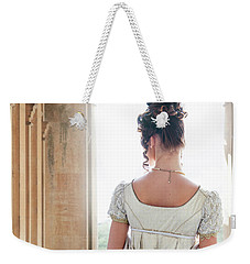 Regency Woman Under A Colonnade Weekender Tote Bag