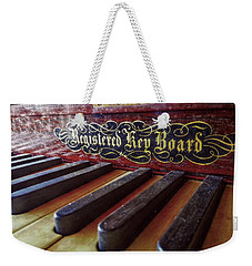 Weekender Tote Bag featuring the photograph Registered Key Board by Linda Unger