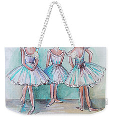 Weekender Tote Bag featuring the painting Rehearsal by Elizabeth Robinette Tyndall