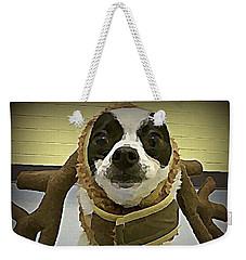Reindeer Dog Weekender Tote Bag
