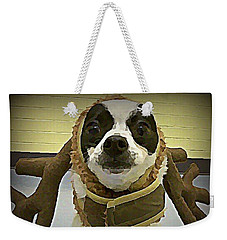 Reindeer Dog Weekender Tote Bag