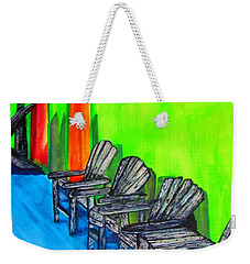 Weekender Tote Bag featuring the painting Relax by Lil Taylor