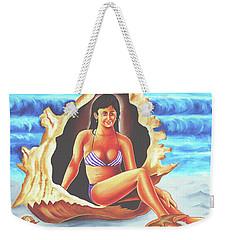 Weekender Tote Bag featuring the painting Relax by Ragunath Venkatraman