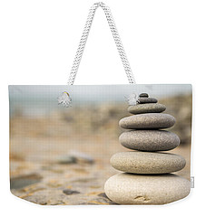Weekender Tote Bag featuring the photograph Relaxation Stones by John Williams