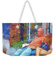 Relaxin Cowboy Weekender Tote Bag by Ricky Dean
