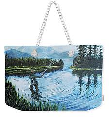 Relaxing @ Fly Fishing Weekender Tote Bag