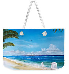 Relaxing At The Beach Weekender Tote Bag