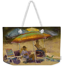 Relaxing At The Lake Weekender Tote Bag by David Patterson