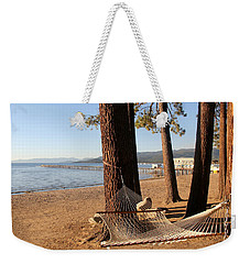 Relaxing On Lake Tahoe Weekender Tote Bag