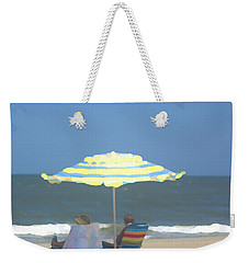 Weekender Tote Bag featuring the photograph Relaxing On The Chesapeake Bay Va Beach by Suzanne Powers