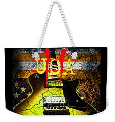Relic Guitar Music Patriotic Usa Flag Weekender Tote Bag