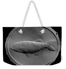 Relief Drawing Of A Freshwater Fish Weekender Tote Bag by Suhas Tavkar