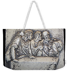 Relief On Plaster Weekender Tote Bag by Suhas Tavkar