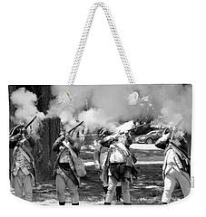 Reliving History-bw Weekender Tote Bag
