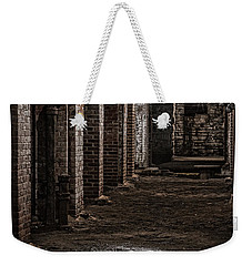Weekender Tote Bag featuring the photograph Remains  by Kristi Swift