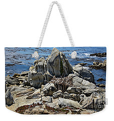 Remains Of Ancient Rocks At Carmel Point Weekender Tote Bag