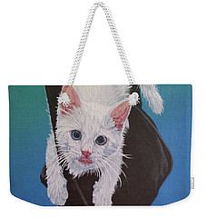 Weekender Tote Bag featuring the painting Rembrandt Justa Swingin by Wendy Shoults