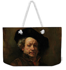 Weekender Tote Bag featuring the painting Rembrandt Self Portrait by Rembrandt van Rijn