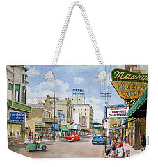 Weekender Tote Bag featuring the painting Remembering Duval St. by Bob George