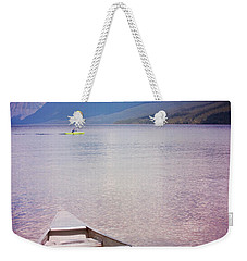 Weekender Tote Bag featuring the photograph Remembering Lake Mcdonald by Heidi Hermes