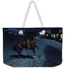 Remington Frederic An Arguement With The Town Marshall Weekender Tote Bag