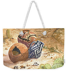 Weekender Tote Bag featuring the painting Remnants Of The Ancient Ones by Marilyn Smith