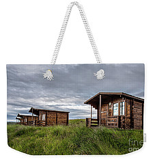 Weekender Tote Bag featuring the photograph Remote Cabins Myvatn Iceland by Edward Fielding