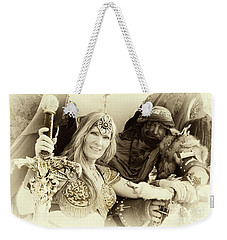Weekender Tote Bag featuring the photograph Renaissance Festival Barbarians by Bob Christopher