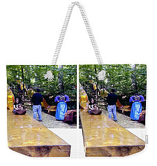 Weekender Tote Bag featuring the photograph Renaissance Slide - Gently Cross Your Eyes And Focus On The Middle Image by Brian Wallace
