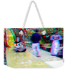 Weekender Tote Bag featuring the photograph Renaissance Slide - Red-cyan 3d Glasses Required by Brian Wallace