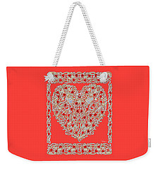 Renaissance Style Heart Weekender Tote Bag
