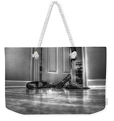 Rendezvous Do Not Disturb 05 Bw Weekender Tote Bag by Andy Lawless