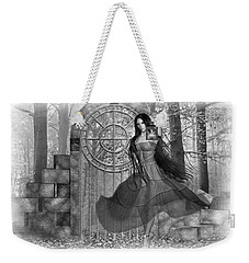 Weekender Tote Bag featuring the digital art Rendezvous by Shadowlea Is