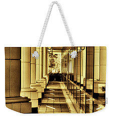 Weekender Tote Bag featuring the photograph Repeat And Reflections by Joseph Hollingsworth