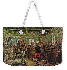 Weekender Tote Bag featuring the painting replica of Ruchenitsa by Nikola Tanev by Pemaro