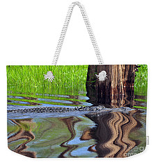 Weekender Tote Bag featuring the photograph Reptile Ripples by Al Powell Photography USA