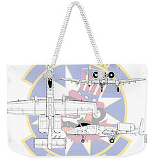 Republic A-10 Thunderbolt II Weekender Tote Bag by Arthur Eggers