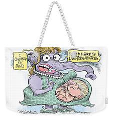 Republican Trump Abortion Weekender Tote Bag